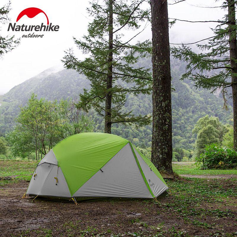 Naturehike Mongar 2018 Aktualisiert Version 2 Person Camping Zelt Ultraleicht 20D Silikon Wasserdicht 2 Mann Outdoor Wandern Kuppel Zelt