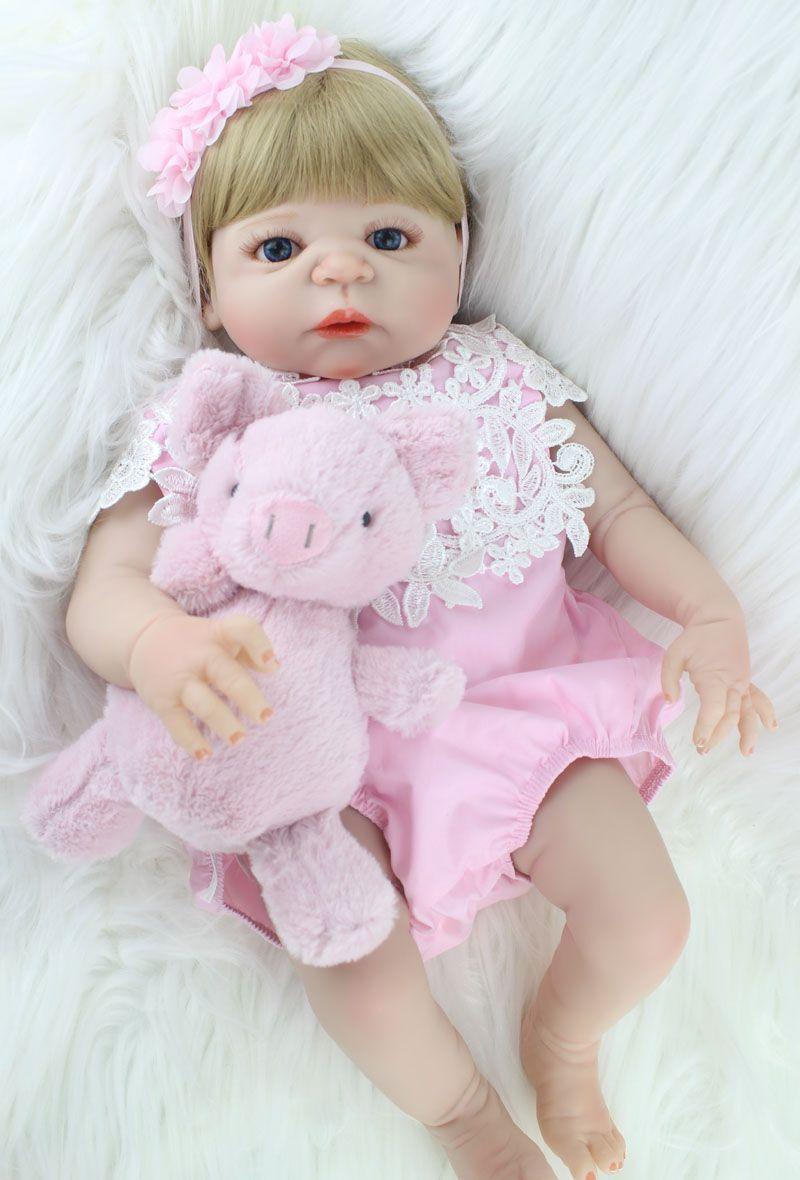 Npkcollection 55 см полный силиконовые Средства ухода за кожей Reborn девушка детские игрушки куклы реалистичные новорожденных принцесса младенцы ку...