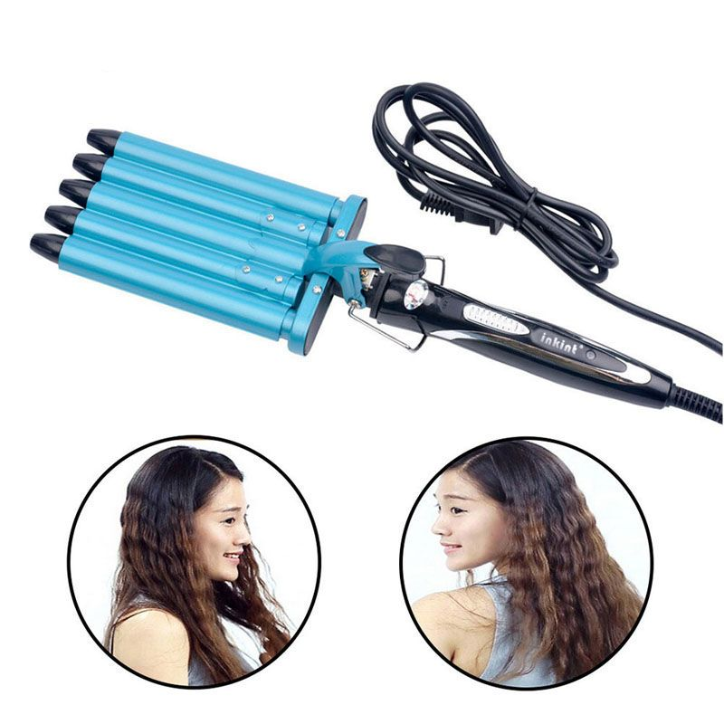 Pro Nano Titanium 5 Barrels Five Pipe Joint Big Hair Wave Waver Ceramic Curler Curl Curling Irons Hairstyle Tools HS11 S4747