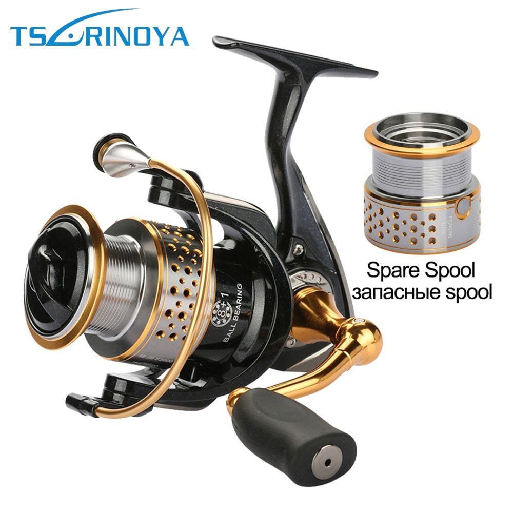 Tsurinoya Fishing Reels Metal <font><b>Spinning</b></font> Reel With One Spare Spool Left And Right Hand 9bb Carp Sea Reel