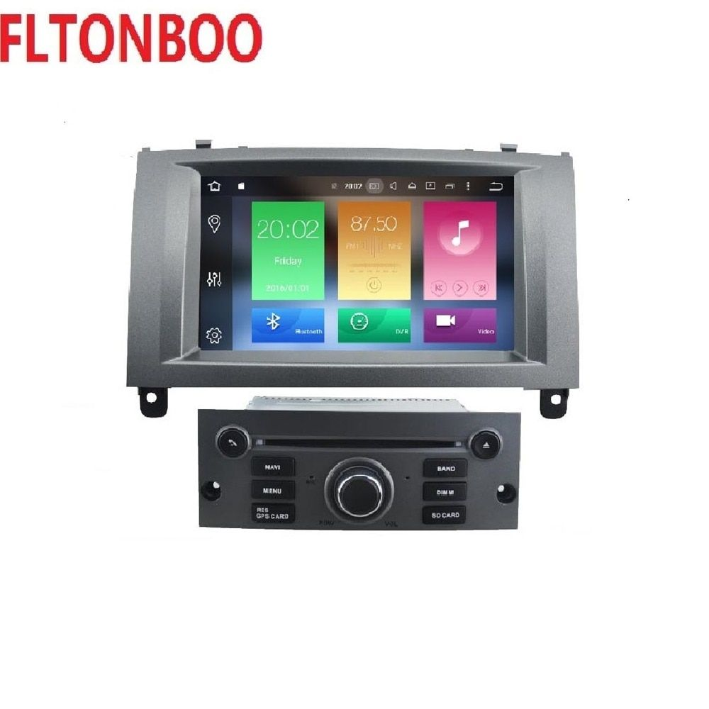 7 zoll 2 din 4 gb RAM 32 gb ROM android 8.0 auto gps navigation für Peugeot 407 2004-2010, wifi, octa core