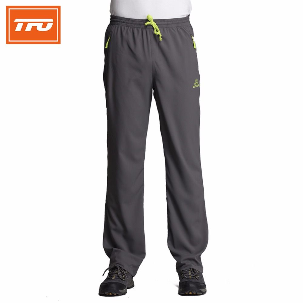 TFO Men Hiking Camping Pants Foldaway Quick Dry Breathable Light Weight Waterproof Outdoor Sport Trousers Fishing 2017