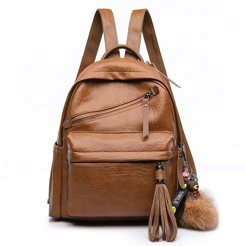 Amasie Women Backpacks Hot Sale Fashion Causal Bags High Quality Bead Female Shoulder Bag Leather Backpacks For Girls WED0014