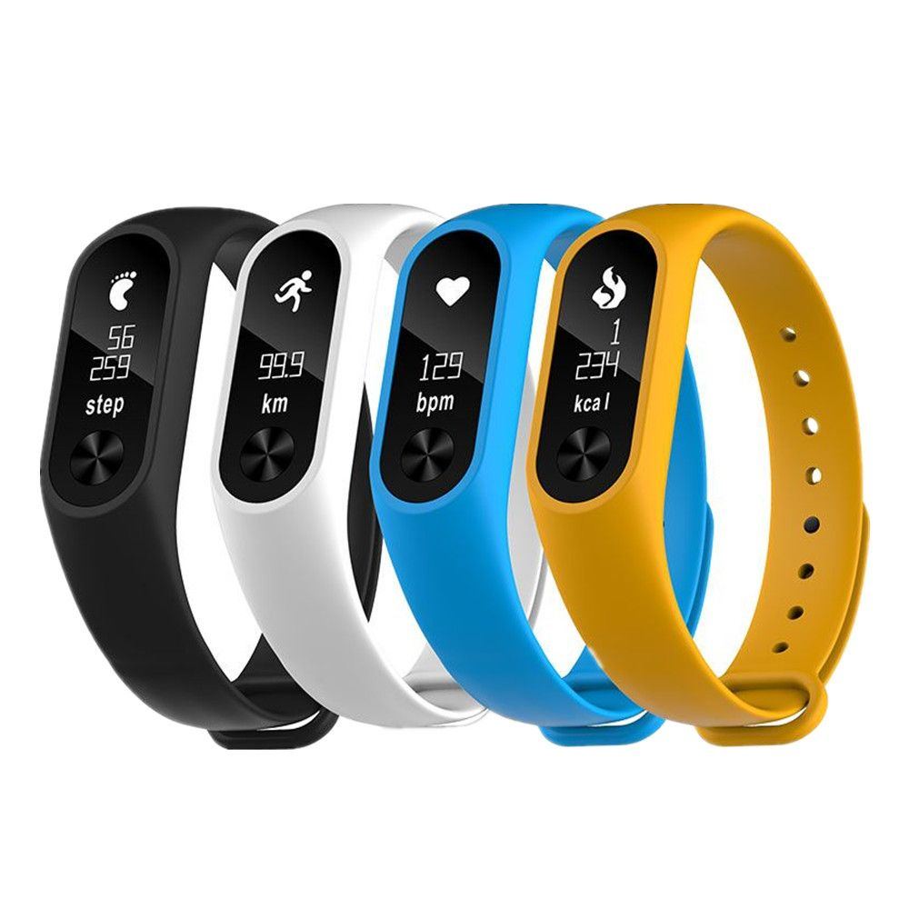 New!! M2S OLED display Heart Rate Monitor Smartband Health Fitness Tracker for Android iOS phone bracelet fitbit replacement