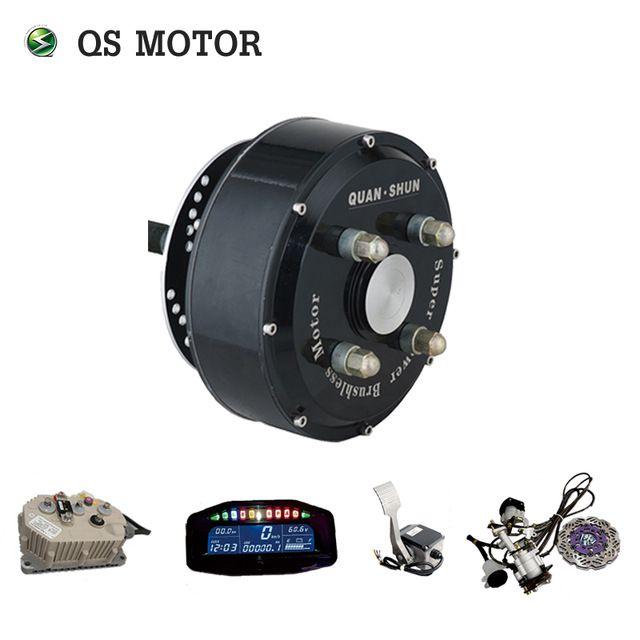 QSMOTOR 72 V 90KPH Elektrische Auto Hub Motor Conversion Kits Dual 3000 W in rad Hub Motor Kits Für Auto mit Sabvoton controller