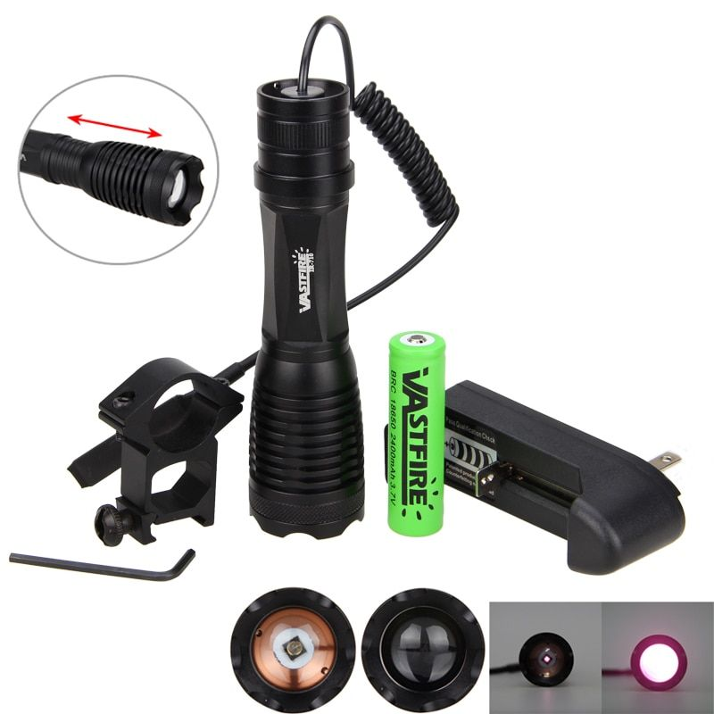 10 w 940nm IR LED Zoomable Vision nocturne infrarouge rayonnement lampe torche lampe lumière Rechargeable 18650 batterie