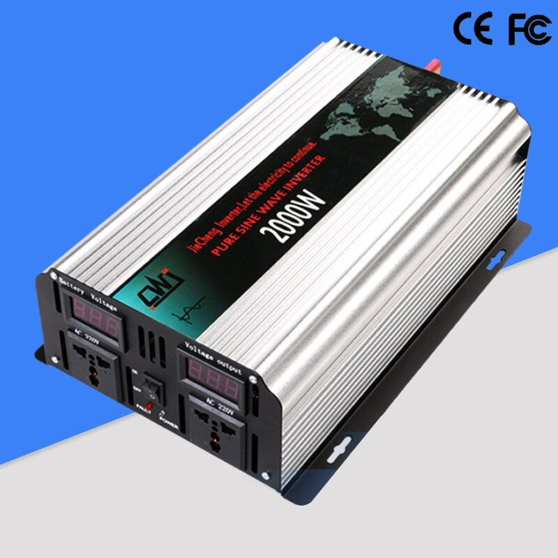 2000W Pure Sine Wave Car Transformer DC 12V/24V to AC 110V/220V Power Inverter Vehicle Power Supply Converter