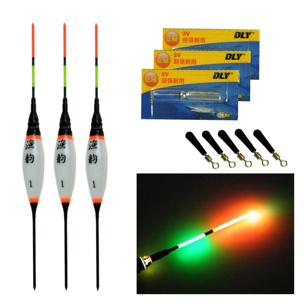 3 Stücke 0,8g 1,3g 1,8g Elektronische LED Fischen Schwimmt Auftrieb Mit Batterie Karpfenangeln Nachtlicht Leuchtenden schwimm Float Bobber