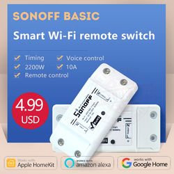 2018 Sonoff dc220v Wireless Control Wifi Switch Smart Home Automation Intelligent Wireless Center for Light 10A/2200W
