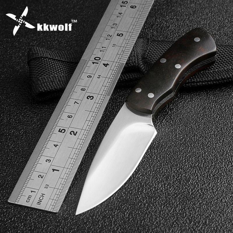 Couteau de chasse Mini très pointu lame fixe Camping tactique survie couteaux de poche poignée en ébène outils EDC en plein air livraison gratuite