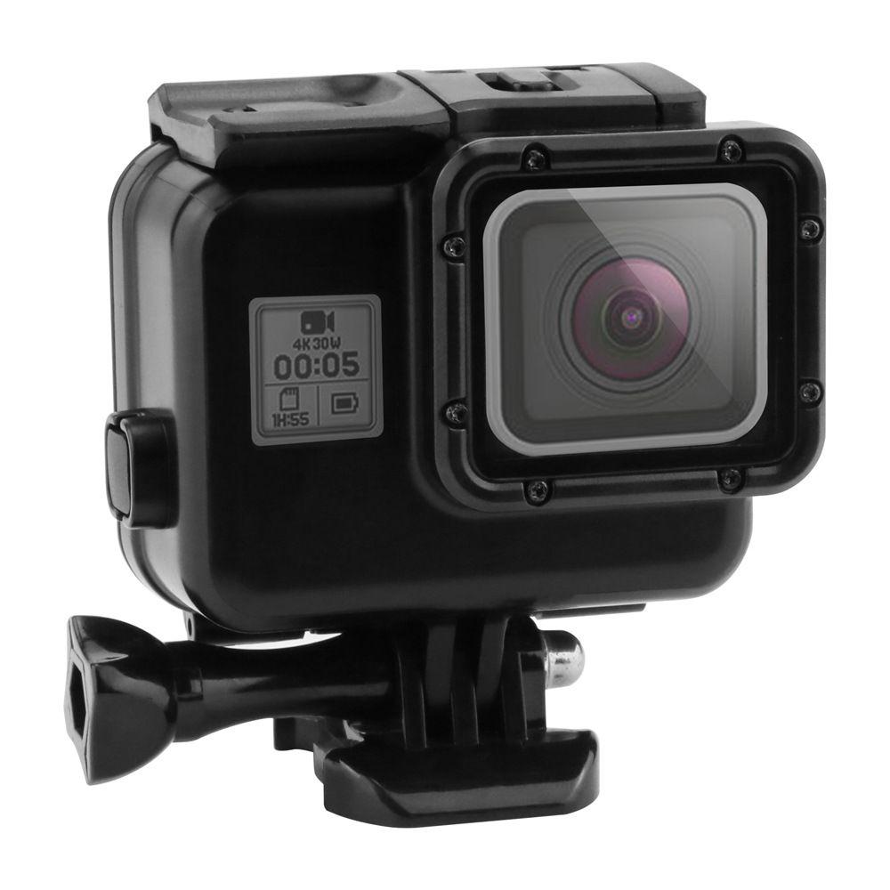 Noir Boîtier Étanche Cas Tactile Écran Back Door Pour Gopro Hero 7 6 Sous-Marine Boîte Pour Go Pro Hero 7 6 5 caméra Accessoires