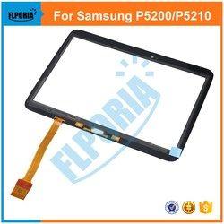 Tablette Tactile Panneau Pour Samsung Galaxy Tab 3 10.1 P5200 P5210 Écran Externe Tactile En Verre Digitizer avec Flex Câble Assemblée