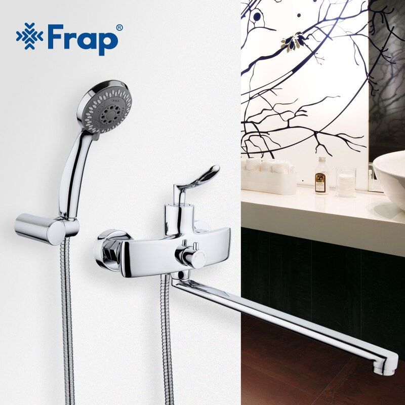 Frap New Arrival Single Handle Bathroom Mixer 35cm Stainless Steel Long Nose Outlet Brass Shower Faucet F2281