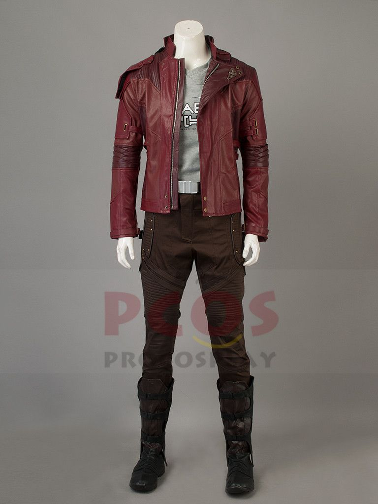 Guardians of the Galaxy Vol.2 Star Lord Peter Quill Cosplay Costume & Boots mp003703