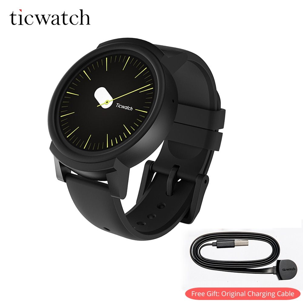 Ticwatch E Free Gift - Charging Cable Smart Wearable Bluetooth Tracker Android Wear WIFI GPS Smartwatch Phone IP67 Waterproof