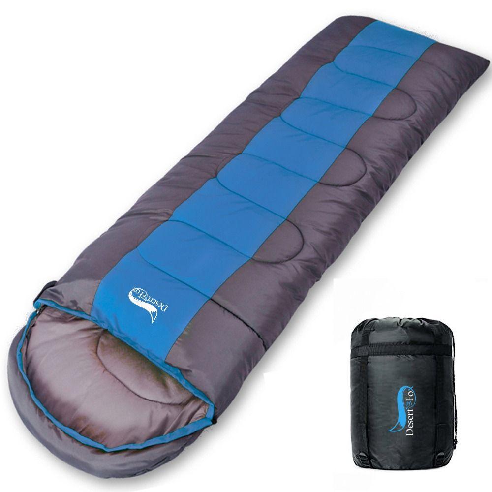 Sac de couchage de Camping Desert & Fox, sac de couchage léger 4 saisons enveloppe chaude et froide sac de couchage pour les voyages en plein air randonnée