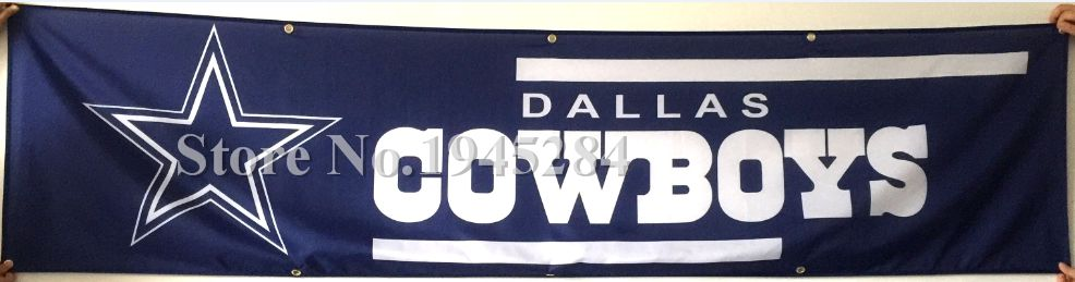 NFL Dallas Cowboys Banner New 2x8ft 60x240cm 100D Polyester Large Banner, free shipping
