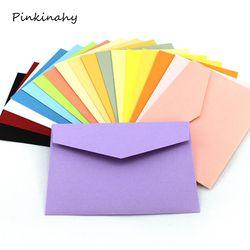 50 pcs/lot De Sucrerie/Kraft Papier 10 Couleur Blanc Enveloppes 108x82mm Banque Carte Enveloppes Cartes De Voeux Mini enveloppes carte de membre