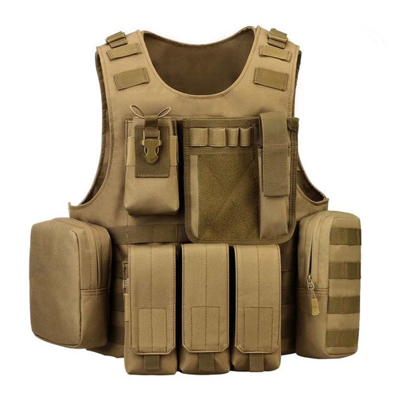 CS Paintball Airsoft Gear Combat Assault Tactical Vest Outdoor Shooting Hunting Camping Jungle Body Protection Molle Waistcoat