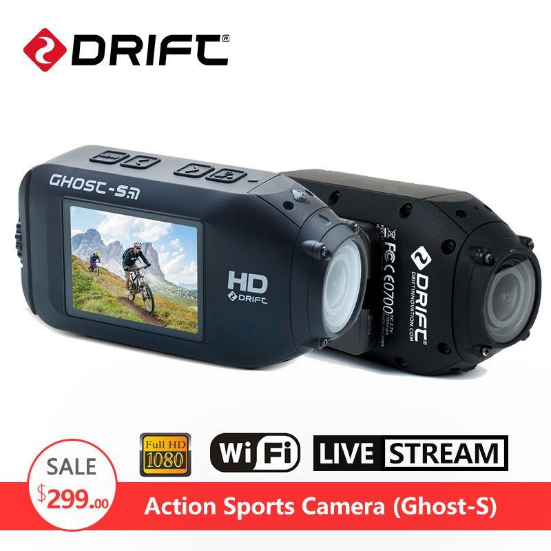D'origine DÉRIVE Fantôme S D'action Caméra Moto Vélo Casque Sport DV aller 1080 P HD pro Caméscope Étanche Écran avec WiFi