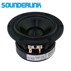 2PCS/LOT Audio Labs Top end 4 inch Cast aluminum frame Bass driver woofer subwoofer transducer speaker for HiFi home theater