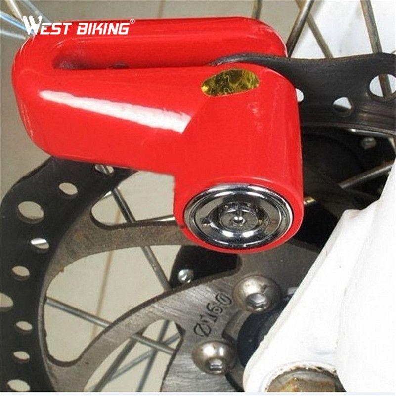 WEST BIKING Multi-function Motorcycle Bicycle Disc Lock / Motorcycle Lock / Locking Rack / Anti-theft Bike Cycling Bicycle Lock
