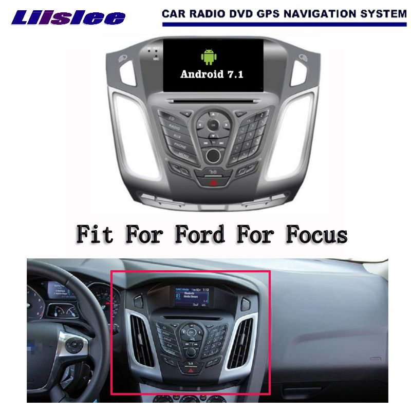 Liislee Android 7.1 2G RAM For Ford For Focus 2012 Car Radio Audio Video Multimedia DVD Player WIFI DVR GPS Navi Navigation