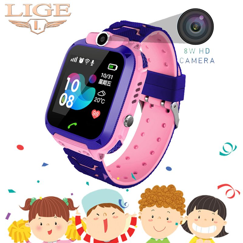 2019 neue £ Kinder Smart Uhr Kind Baby Uhr SOS Anruf Location Finder Locator Tracker Anti Verloren Display Kinder Uhr + Box