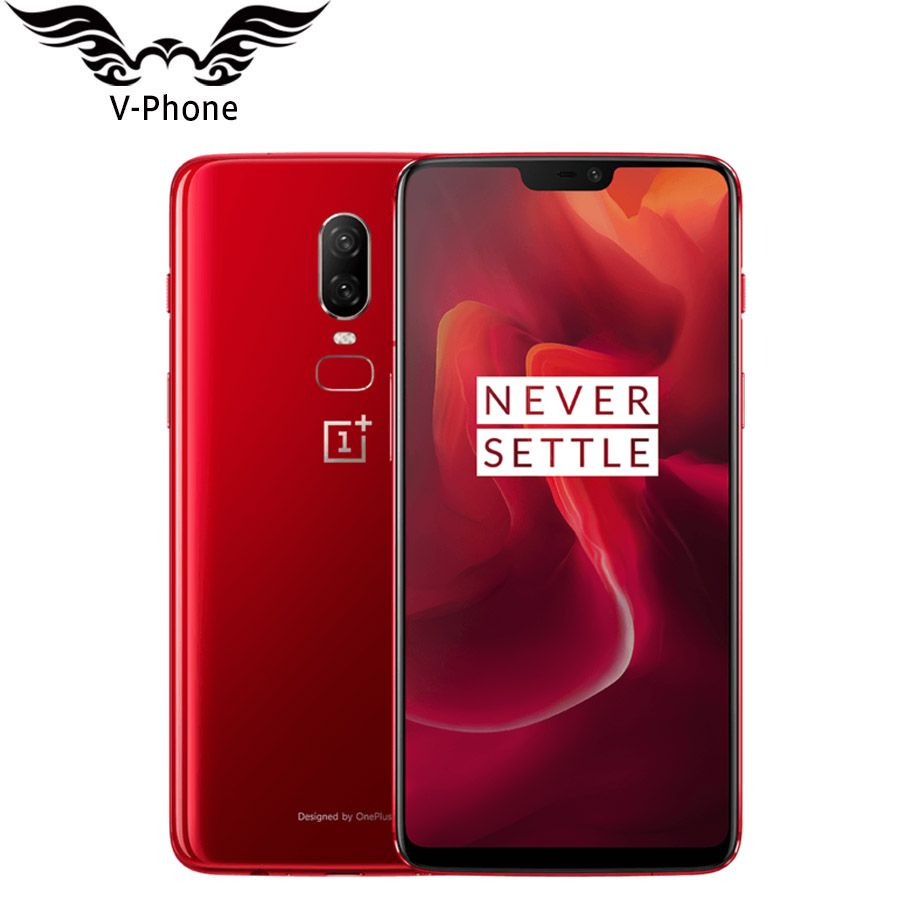 Original Oneplus 6 A6000 Waterproof Mobile Phone 4G LTE 8GB 128GB 6.28'' Snapdragon 845 Android 8.1 20MP 16MP Camera NFC