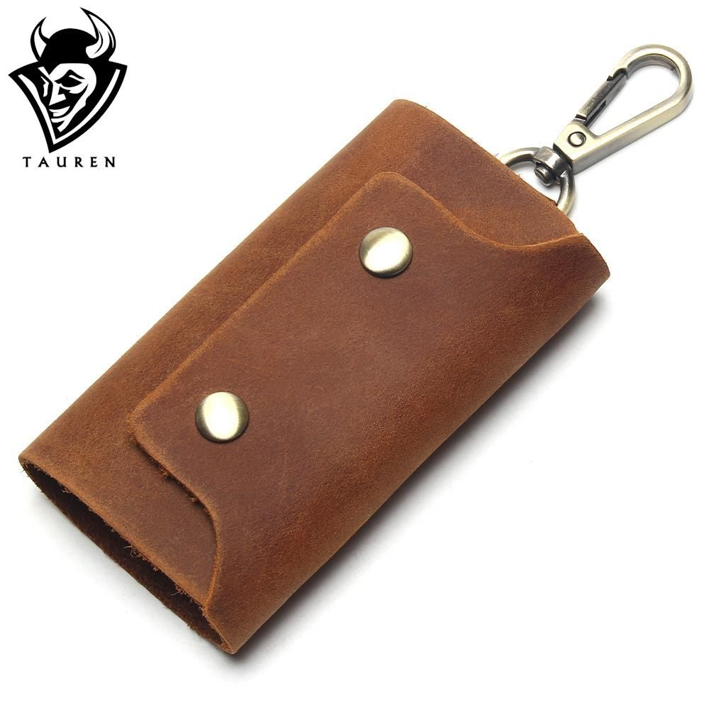 Genuine Leather Key Wallet Men Key chain Covers Hasp Key Case Bag Mens Housekeeper Organizer Handmade Key Holder Bags
