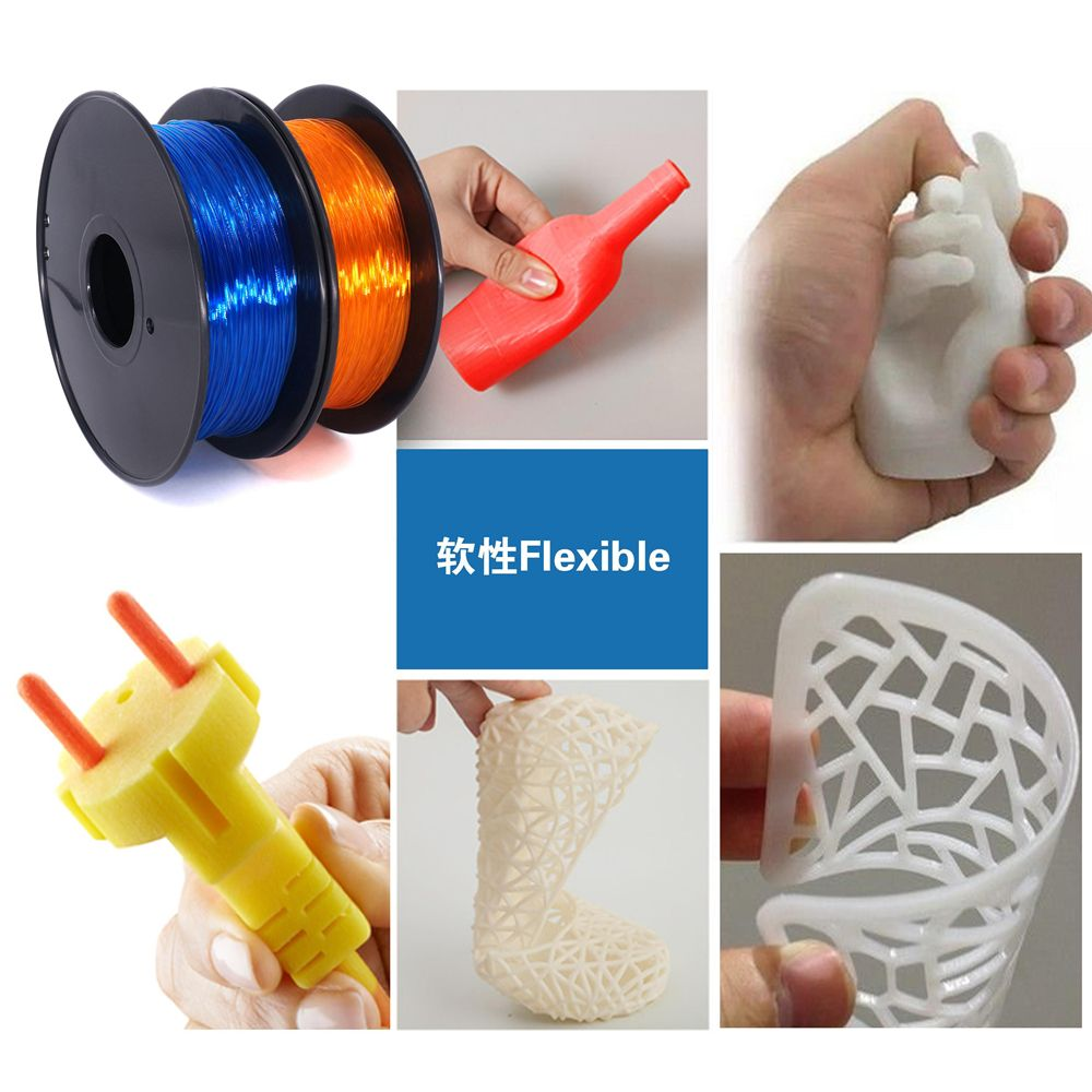 Worldwide Fast Delivery Manufacturer high quality 3D Printer Material 0.8kg Soft Rubber 1.75mm Flexible 9colors opt TPU Filament