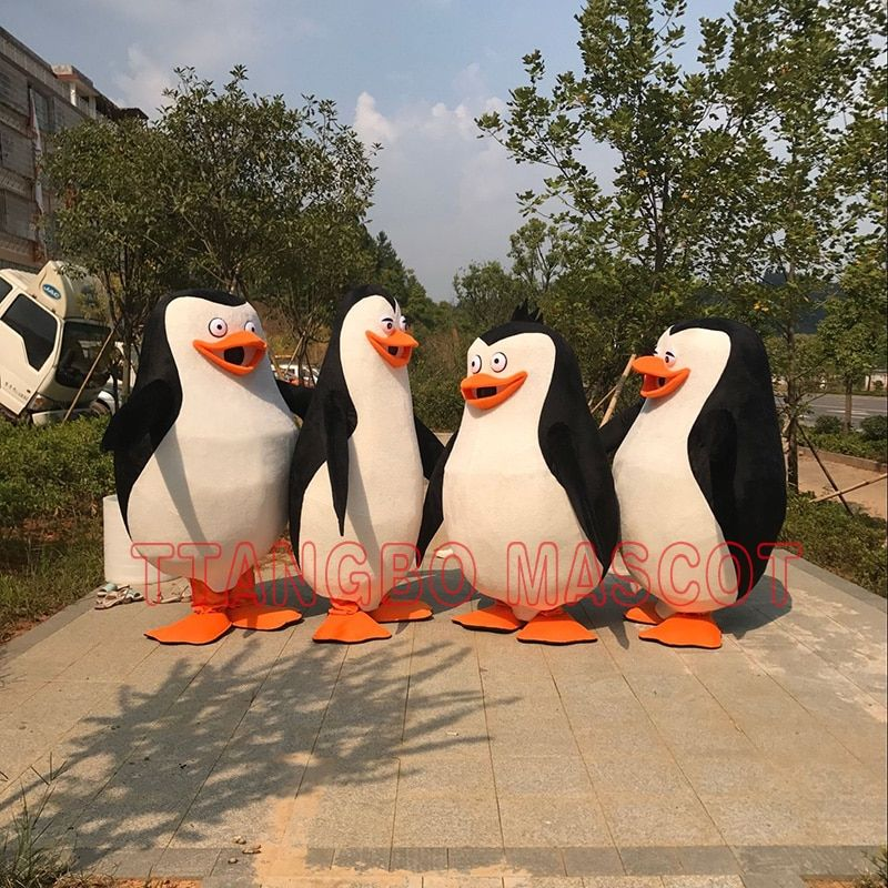 The Penguins of Madagascar Penguin Mascot Costume cosplay Fancy Dress adult size