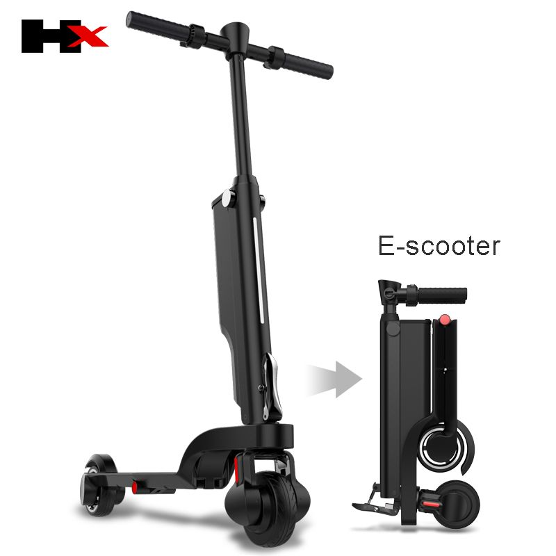 2018 latest HX electric scooters, 4-fold folding, ultra-portable adult scooters,can be put into backpack 25km/h 250W motor