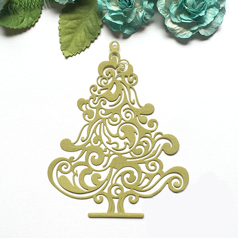 Metall Carbon Stahl Weihnachten Baum Präge Schneiden Stirbt Schablonen Vorlagen Form für DIY Scrapbooking Album Papier Karte