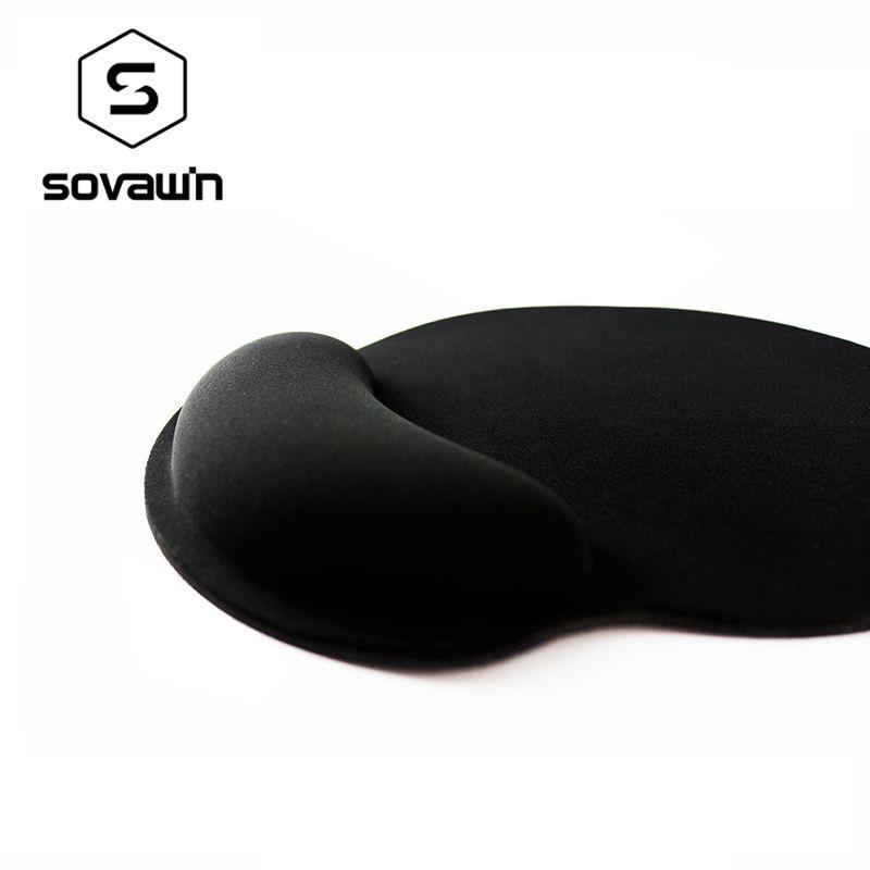 Tapis de souris éponge souple intégré tapis ergonomique anti-dérapant Gel Support de poignet tapis de souris sain pour ordinateur de jeu PC