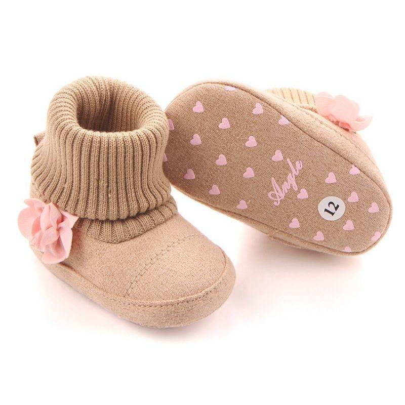 Cute Autumn Winter Children Baby Newborn Warm Flower Boots