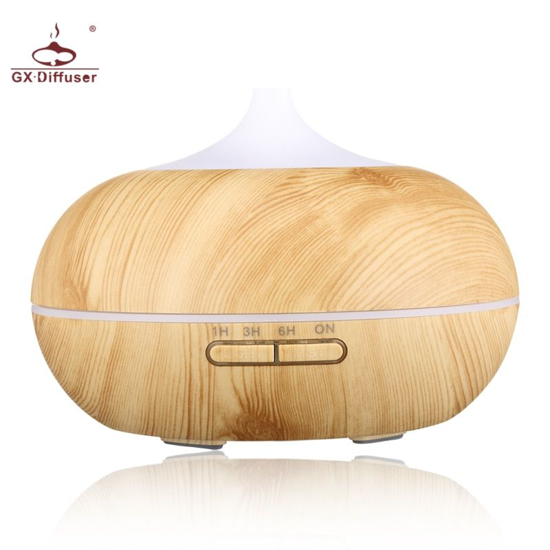GX.Diffuser 300ML LED Lamp Electric Aroma Diffuser Aromatherapy Essential Oil Diffuser Humidifier Ultrasonic Mist Maker For Home