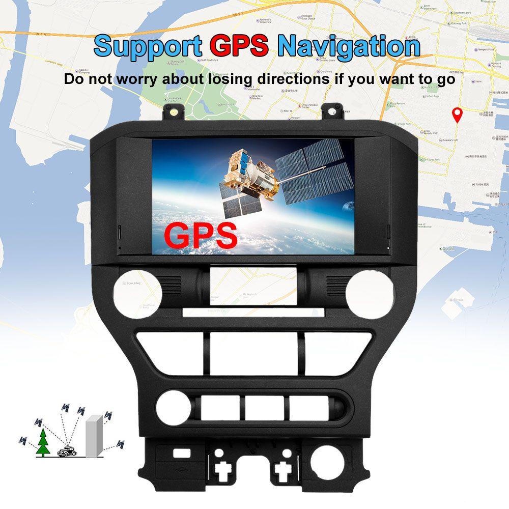 2 Din Auto Navigation DVD Multimedia Player 8 zoll Bildschirm mit Europäischen Karte GPS Navigation Für Ford Für Mustang 2015 2016 2017