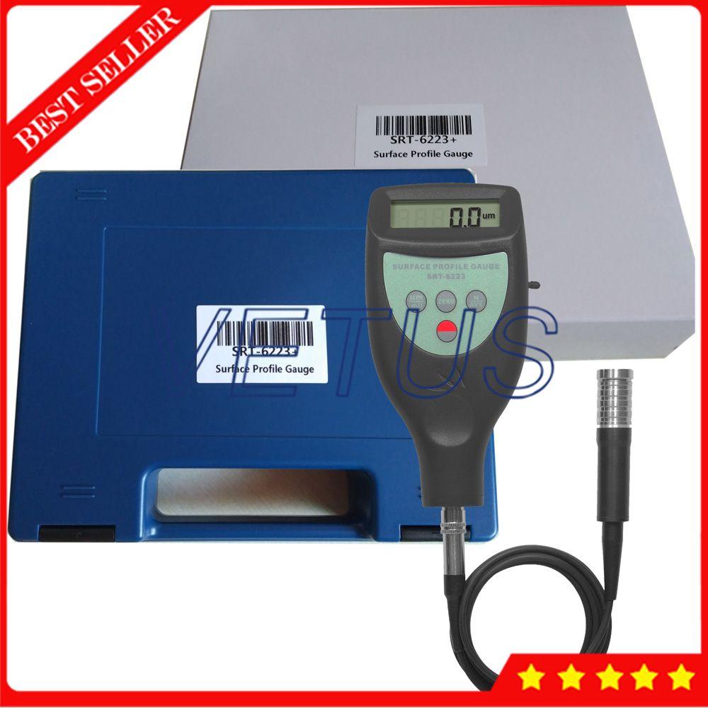 SRT6223+ Portable Surface Profile Gauge Digital Roughness Tester Meter Gage Digital LCD Surface Roughness Tester Profilometer