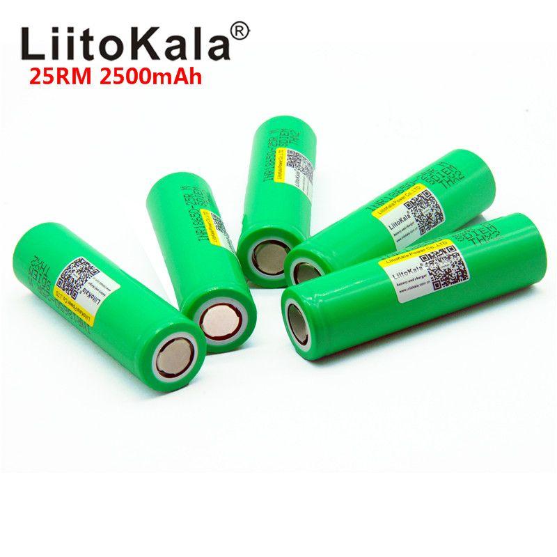 2018 Liitokala 18650 2500 mah INR1865025R 20A entladung lithium-batterien elektronische zigarette Batterie 18650 2500 25R