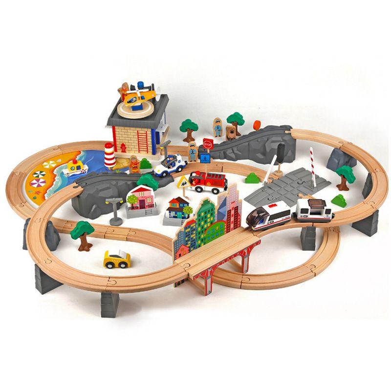T-homas und Freund Holz Brio Zug Track Spielzeug Magische Magnetische Eisenbahn Brücke Station Modell Zubehör spielzeug Für Kinder