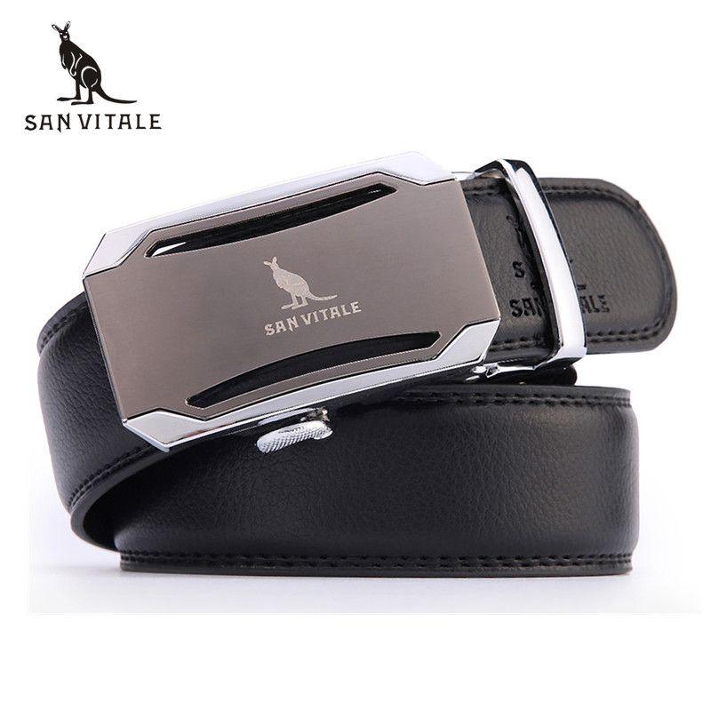 Mens fashion Belt 2016 New Designer Automatic Buckle Cowhide Leather men belt 110cm-130cm Luxury belts for male free shipping
