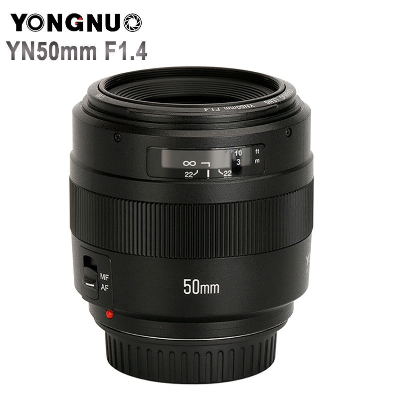 YONGNUO YN50mm F1.4 Standard Prime Lens Large Aperture Auto Focus (AF)/Manual Focus (MF) 50mm Lens for Canon EOS Camera