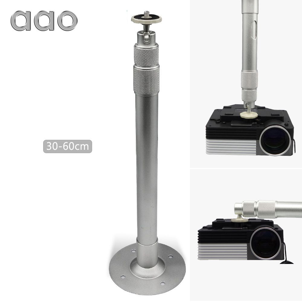 AAO 40cm 60cm 120cm Length Projector Hanger Ceiling Mount Bracket Camera Wall LCD DLP Projector Mounting Aluminum Alloy Holder