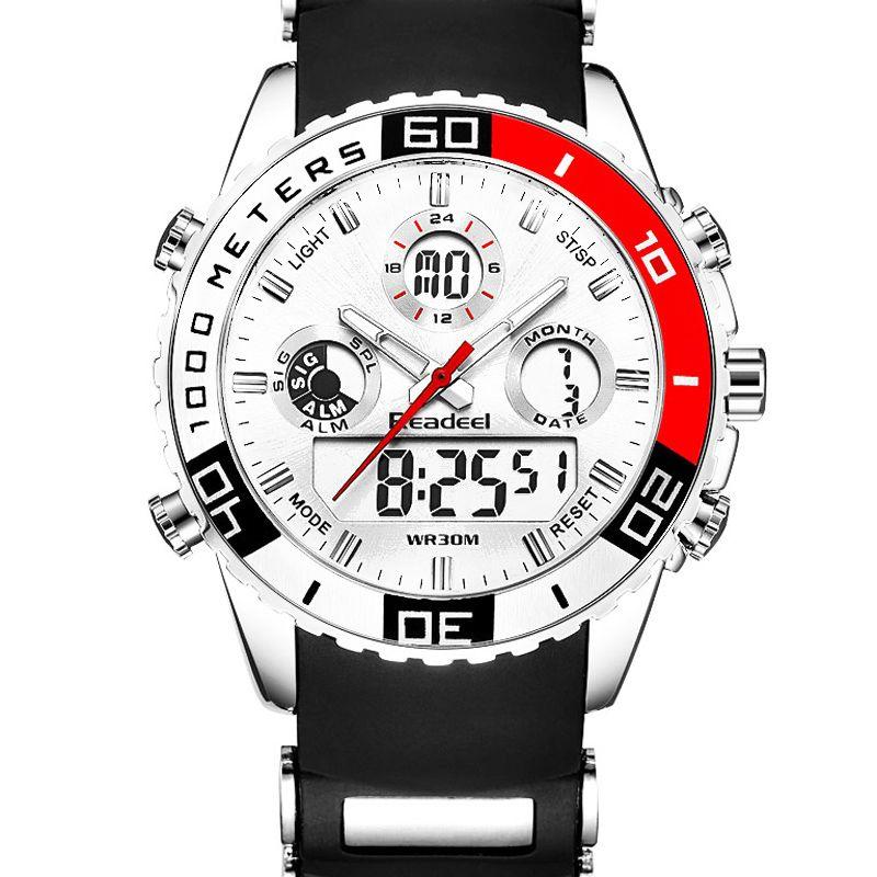 2017 Top Brand Mens Sport Watches Men Quartz Analog LED <font><b>Clock</b></font> Man Military Waterproof Watch Sport Relogio Masculino reloj hombre