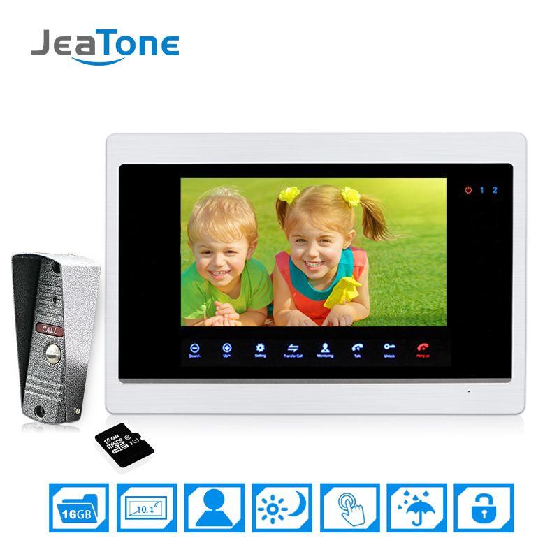 10''big Screen Door Phone Intercom Home Apartment Security Video Intercom doorbell video IR Night Vision Included 16G SD Card
