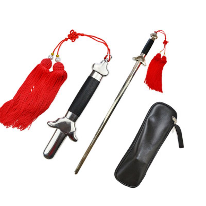 Telescopic sword  stainless steel Tai chi kung fu martial art fitness performance products Get a tassel and packet