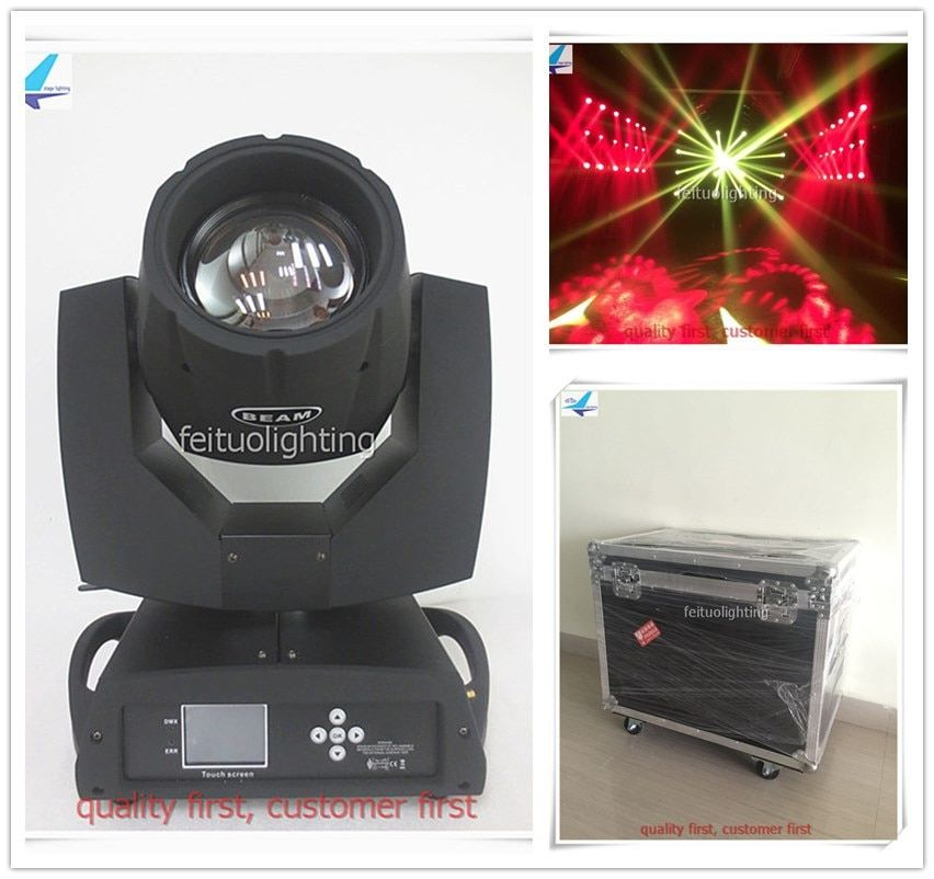 free shipping 2pcs/lot flycase Beam 7r Lyre 230w Clay Paky Sharpy Moving Head Light Rotating Spot Gobos Music Dance Show Lights