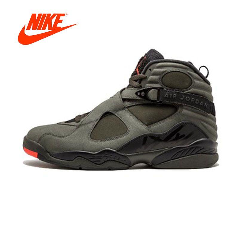 Original New Arrival Authentic NIKE Air Jordan 8 Retro 'Take Flight' Men's Breathable Basketball Shoes Sport Sneakers 305381-305
