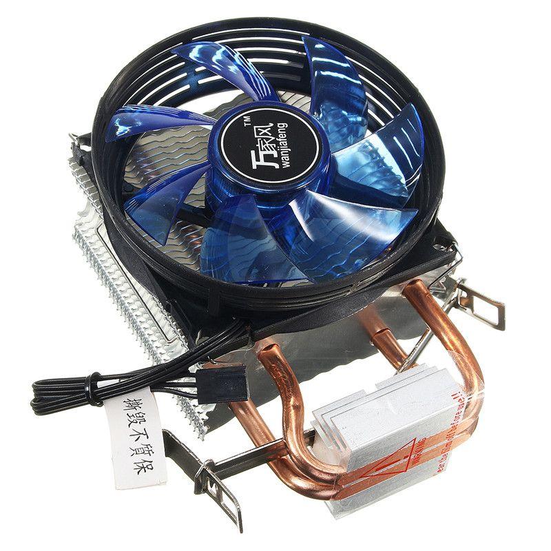 Quiet Cooled Fan Core LED CPU Cooler Cooling Fan Cooler Heatsink for Intel Socket LGA1156/1155/775 AMD AM3 High Quality